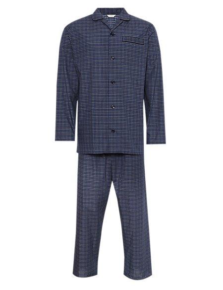 2in Longer Mini Checked Pyjamas