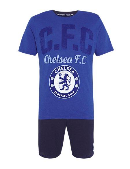 Pure Cotton Chelsea Football Club T-Shirt & Shorts Set
