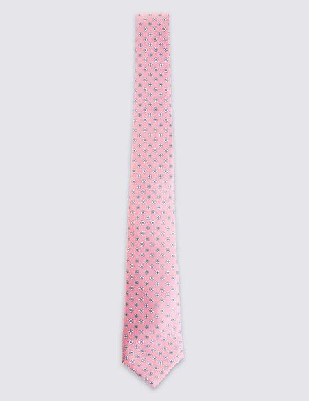 Pure Silk Paisley Print Tie