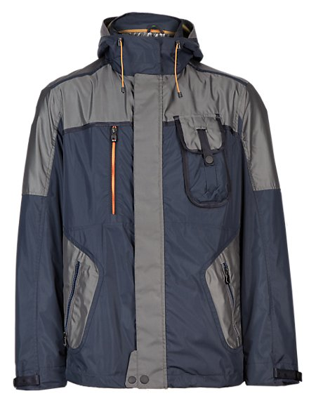 Hooded Two Tone Jacket with Stormwear™
