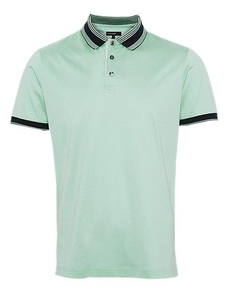 Supima® Pure Cotton Striped Polo Shirt