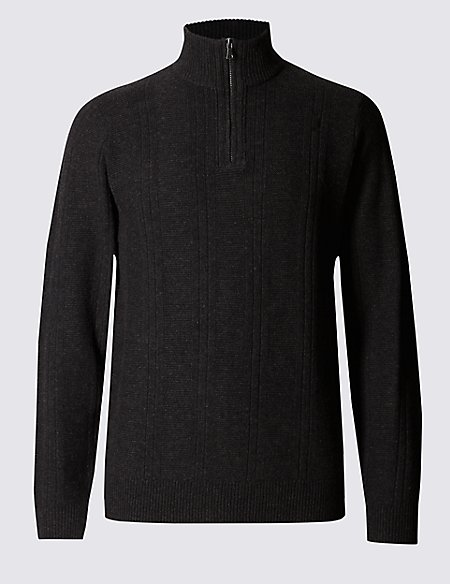 Lambswool Rich Textured Jumper