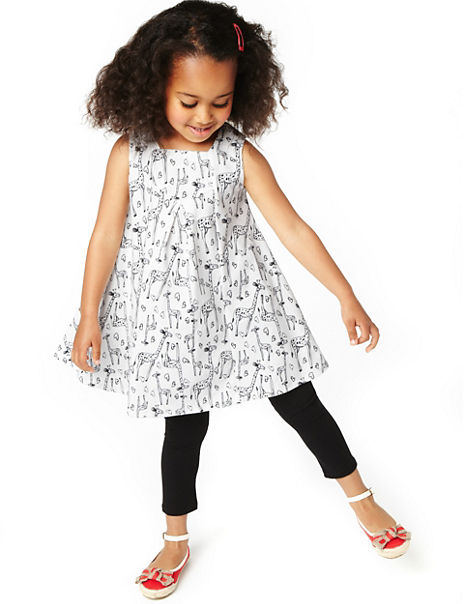 f7ee87199ad Product images. Skip Carousel. 2 Piece Cotton Rich Giraffe Print Tunic & Leggings  Outfit Set