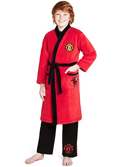 Manchester United Dressing Gown with StayNEW™ (3-16 Years) | M&S