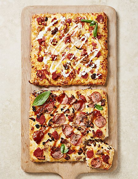 'The Whole Hog' & 'Chicken Out' Deep & Loaded Pizzas (2 Pizzas)