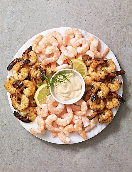 King Prawn Platter with Whisky Marie Rose Sauce