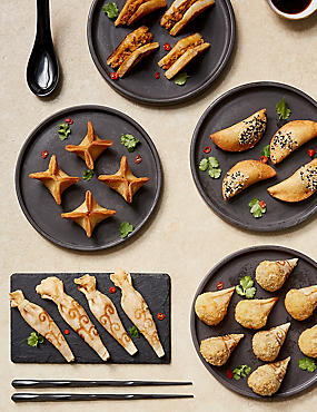 Oriental Party Food Selection (24 Pieces)