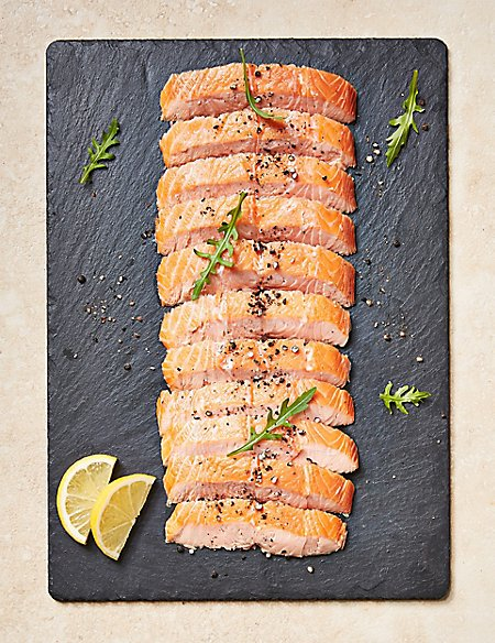 Half Side of Honey Roast Hot Smoked Salmon (Serves 10-12)