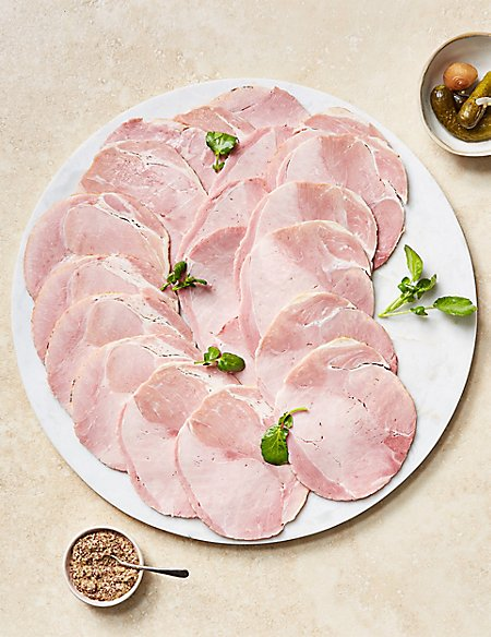 British Outdoor Bred Pre-sliced Wiltshire Ham (Serves Approx. 10)