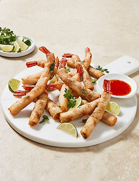 Hand-Wrapped Tiger Prawns (16 Pieces)