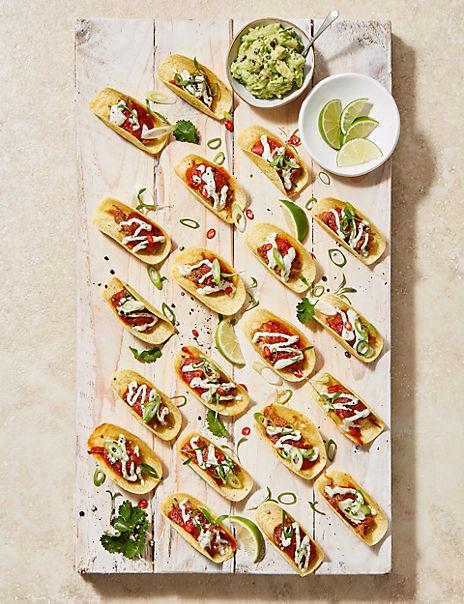 20 Spicy Pulled Pork Tacos (20 Pieces)