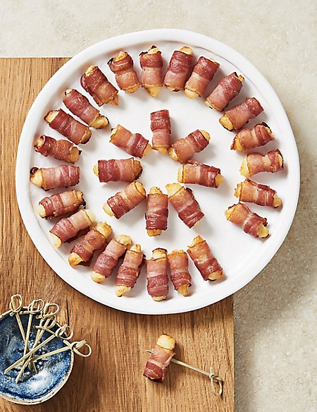 32 Bacon & Cheese Rolls