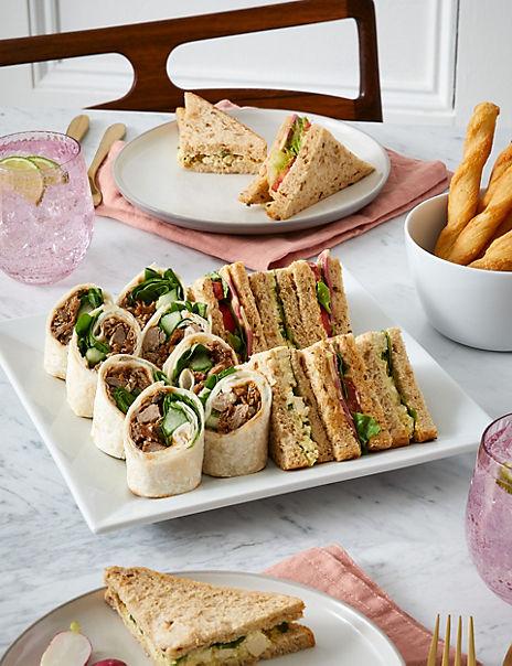 Vegan Sandwich & Wrap Platter (20 Pieces)
