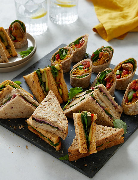 Vegan Sandwich & Wrap Platter (20 Pieces) - Last customer collection date 1st October
