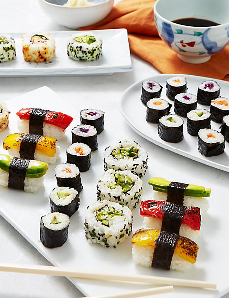 Vegetable Sushi Platter (38 Pieces)