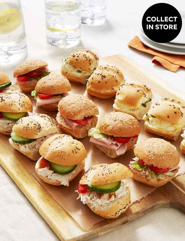 Sandwich Platters | Mini Wraps & Rolls Tray for Parties | M&S