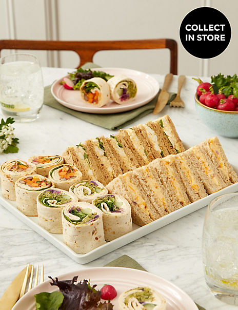 Vegetarian Sandwich & Wrap Selection (20 Pieces)