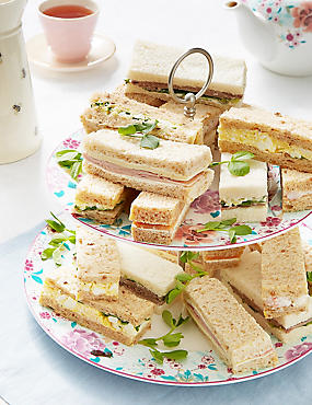 Picnic food ideas sandwiches snacks vegetarian ms afternoon tea sandwich fingers 20 pieces forumfinder Gallery