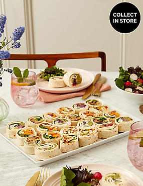 Party Mini Wrap Slices (20 Pieces)