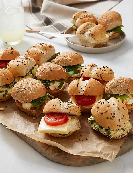 Vegetarian Mini Roll Platter (15 Pieces)