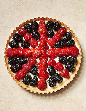 Union Jack Berry Tart (Serves 8)