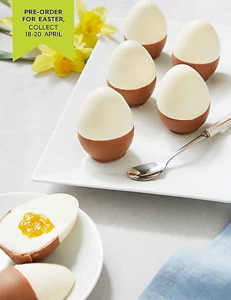 6 White Chocolate & Passionfruit Eggs - Serves 6 (Pre-order for Easter collection 18th-20th April)