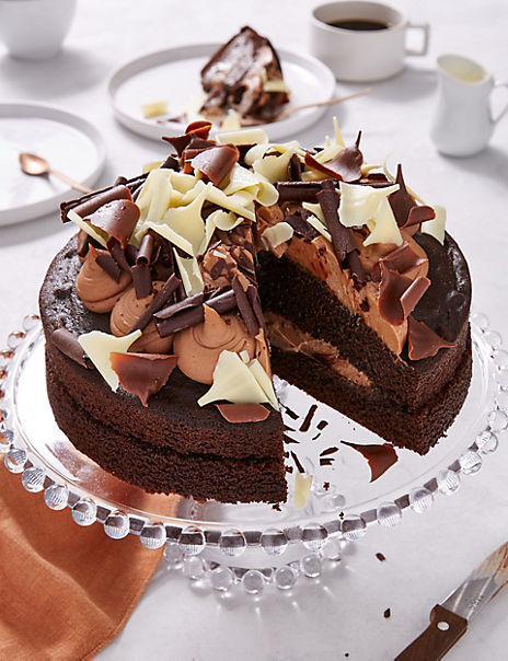Chocolate Gateau (Serves 10) - Ready to collect from 18th October