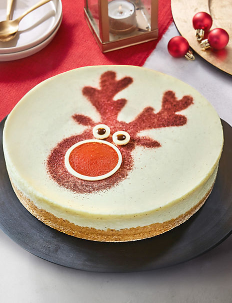 Rodney The Reindeer Cheesecake (Serves 10) - Available to collect between 6th and 20th December