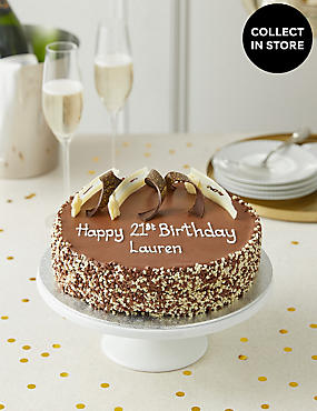 Personalised Extremely Chocolatey Party Cake Serves 25