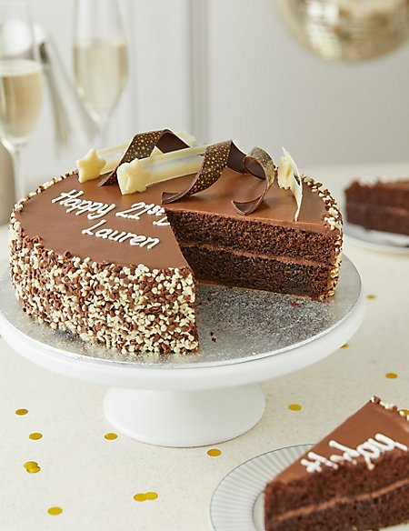 Personalised Extremely Chocolatey Party Cake (Serves 25)