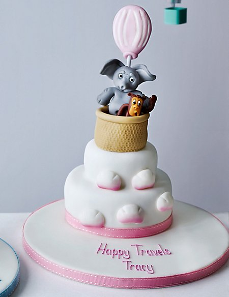 Hot Air Balloon Cake - Pink (Available to order until 4th February 2017)