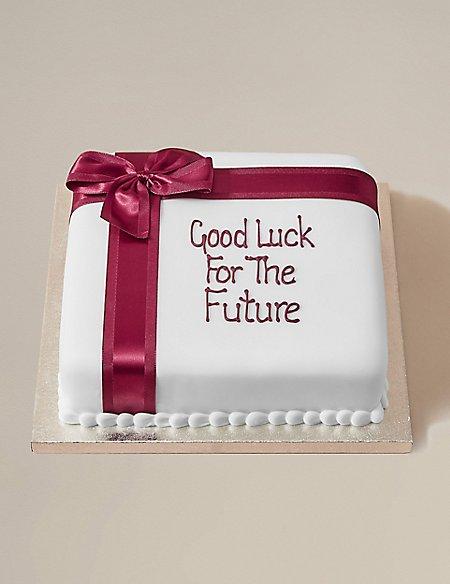 Personalised Celebration Chocolate Cake with Burgandy Ribbon (Serves 30)