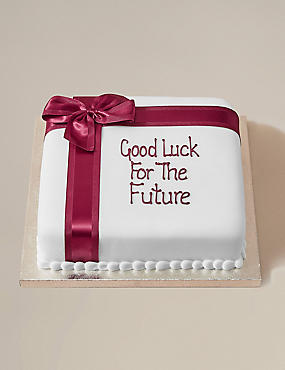 Personalised Celebration Chocolate Cake with Burgandy Ribbon (Serves 30)