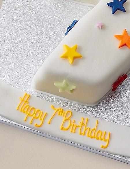 Personalised Stars Number Chocolate Cake - Single Digit (Serves 20)