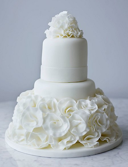 Collections White Ruffle Cake - Chocolate (Available to order until 31st January 2017)