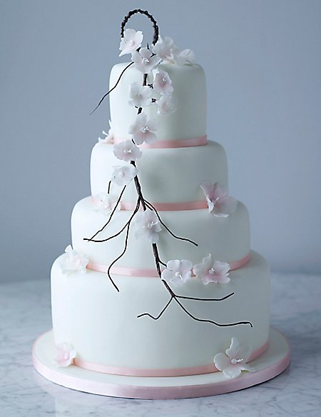 Collections Falling Blossom Wedding Cake - Assorted (Available to order until 31st January 2017)