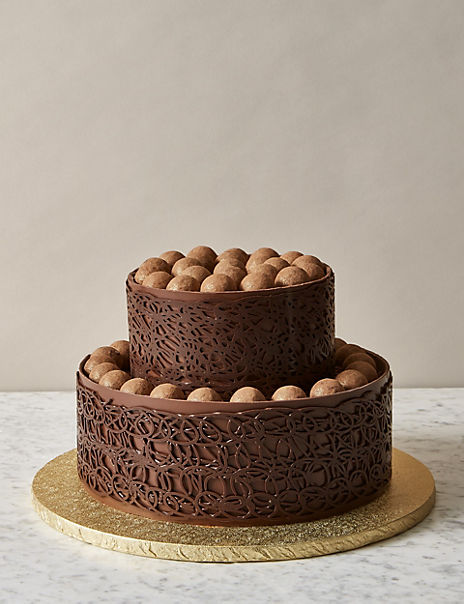 A Salted Caramel & Chocolate Truffle Wedding Cake (Serves 48)