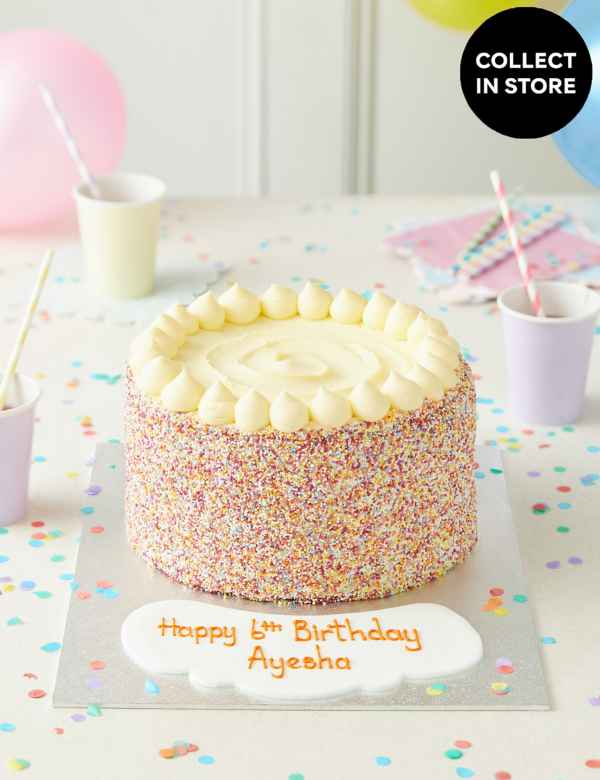 Personalised Extra Large Rainbow Layers Cake Serves 32