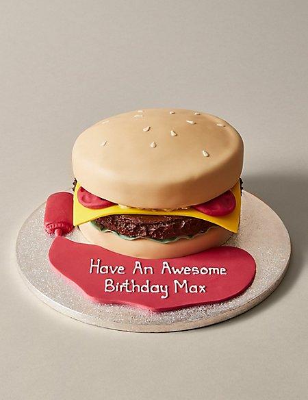 Personalised Brilliant Burger Cake (Serves 30)