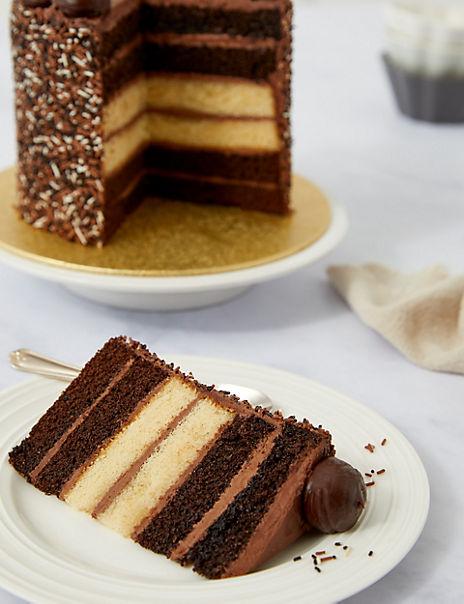 Milk Dark & White Chocolate Layers Cake (Serves 12)