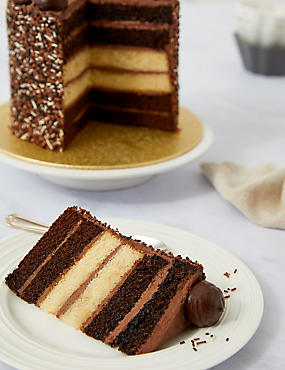 Milk Dark & White Chocolate Layers Cake (Serves 12)