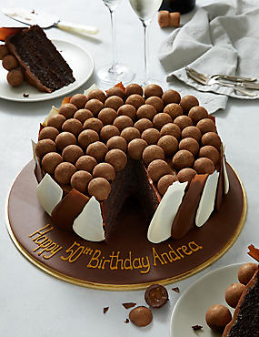 Personalised Chocolate & Salted Caramel Truffle Brush-Stroke Cake (Serves 28)