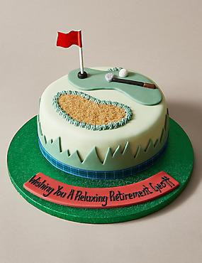 Personalised Golf Cake Serves 24