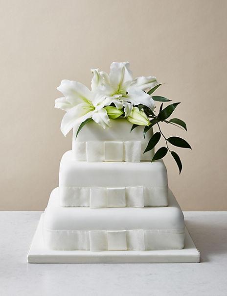 3 Tier Elegant Wedding Cake (Serves 180-190)