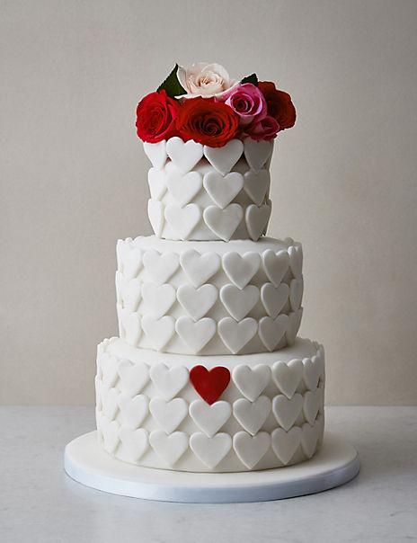 Serene Heart Sponge Wedding Cake (Serves 95)