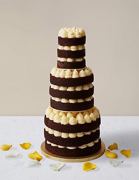 Naked Style Chocolate Vanilla Wedding Cake Available To Order