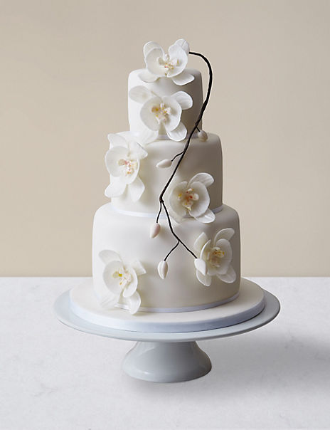 Orchid Elegance Wedding Cake - Assorted Flavours (Serves 150)