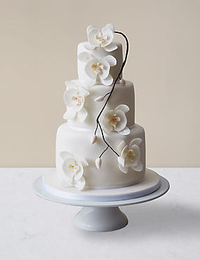 Orchid Elegance Wedding Cake - Assorted Flavours (Serves 150)