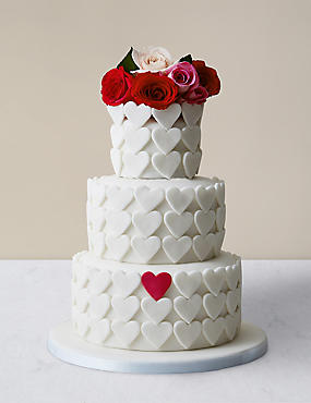 Serene Heart Chocolate Sponge Wedding Cake (Serves 95)