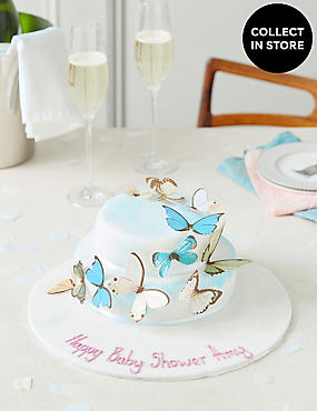 Personalised Butterfly Cascade Cake (Serves 28)